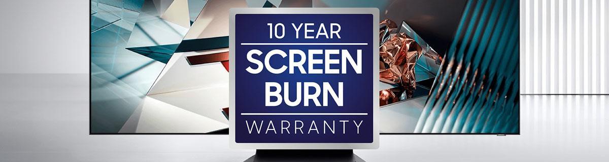 Samsung 10 Year Screen Burn Warranty Banner