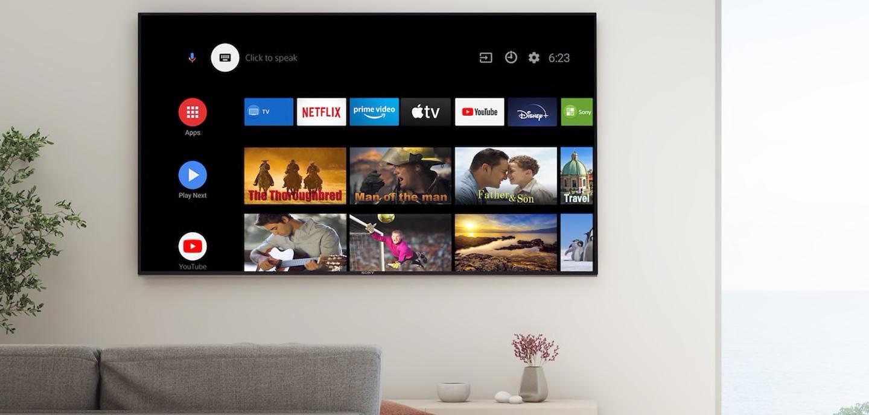 Sony Bravia OLED TV wall mounted