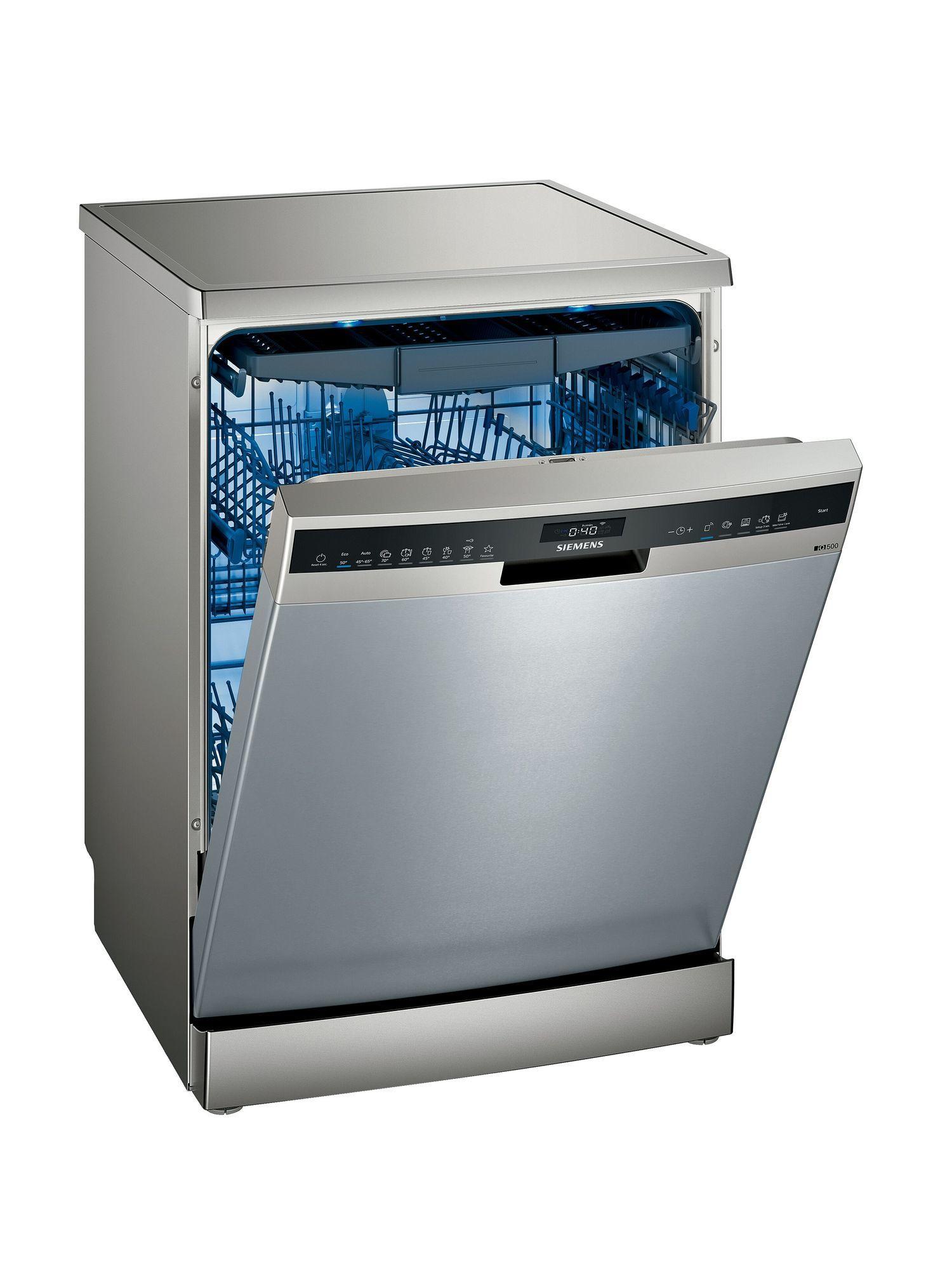 Image of iQ500 SN25ZI49CE 60cm Standard Dishwasher | Fingerprint Free Steel