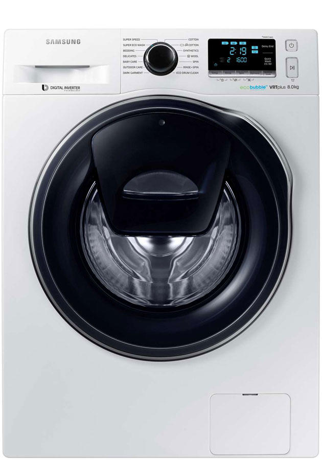samsung ww80k6610qw ww80k6610qw addwash washing machine. Black Bedroom Furniture Sets. Home Design Ideas