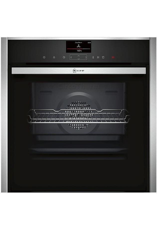 Neff B47VS34N0B Slide & Hide Built-In Steam Single Oven