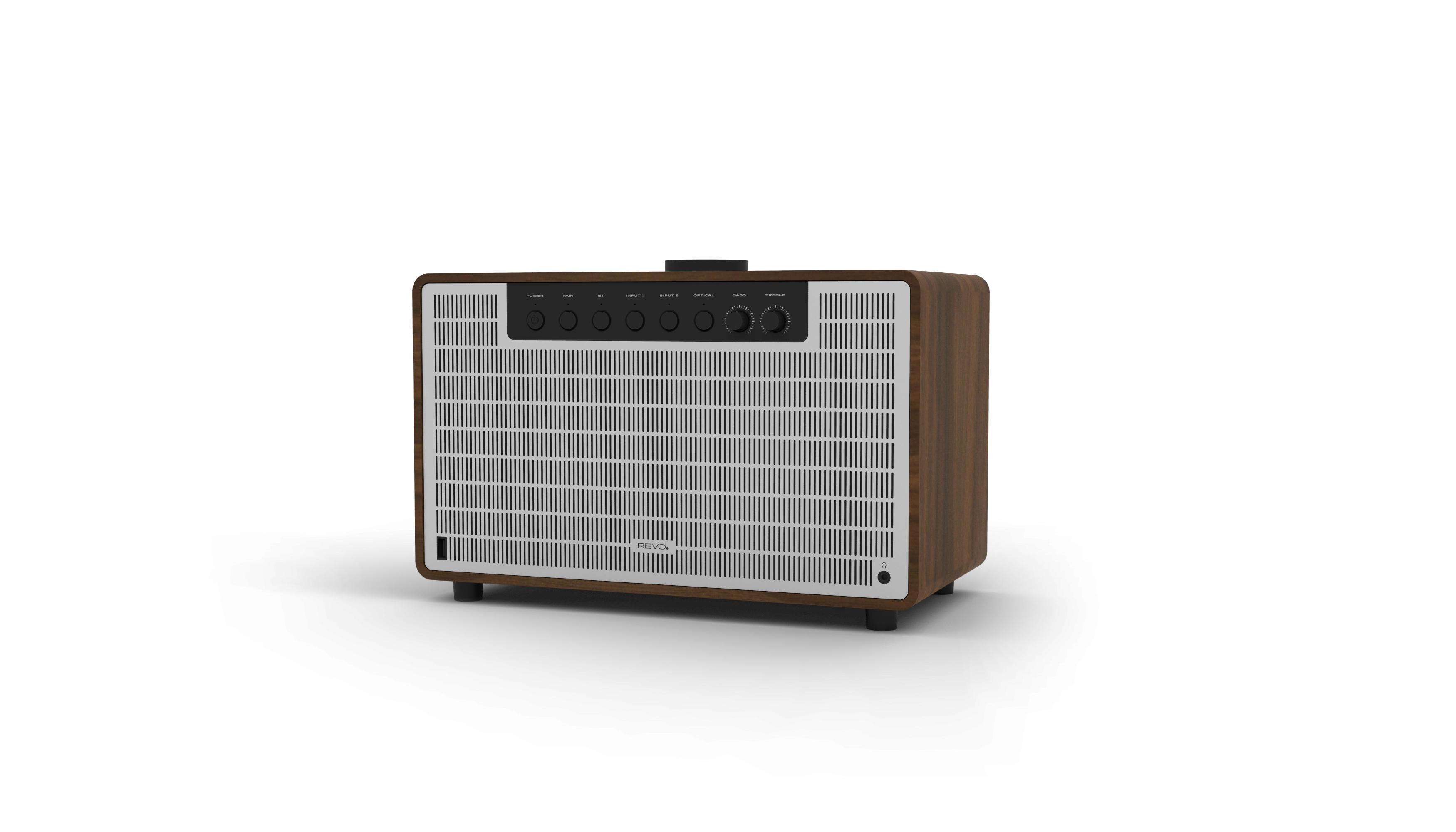 Revo SuperTone Premium Bluetooth Speaker - Walnut / Silver