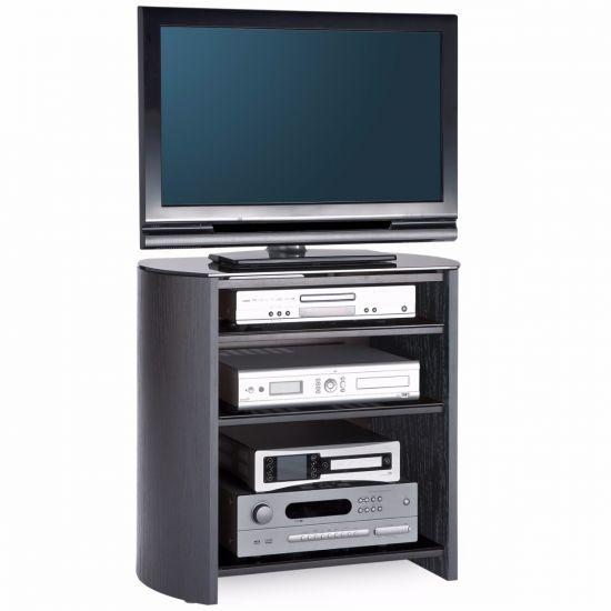 Alphason FW750/4-BV/B Finewoods HiFi TV Stand in Black Oak