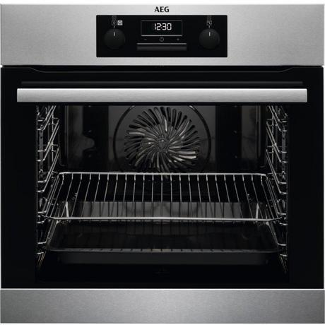 AEG BES25101LM Built In Electric Steam Bake Single Oven - Stainless Steel
