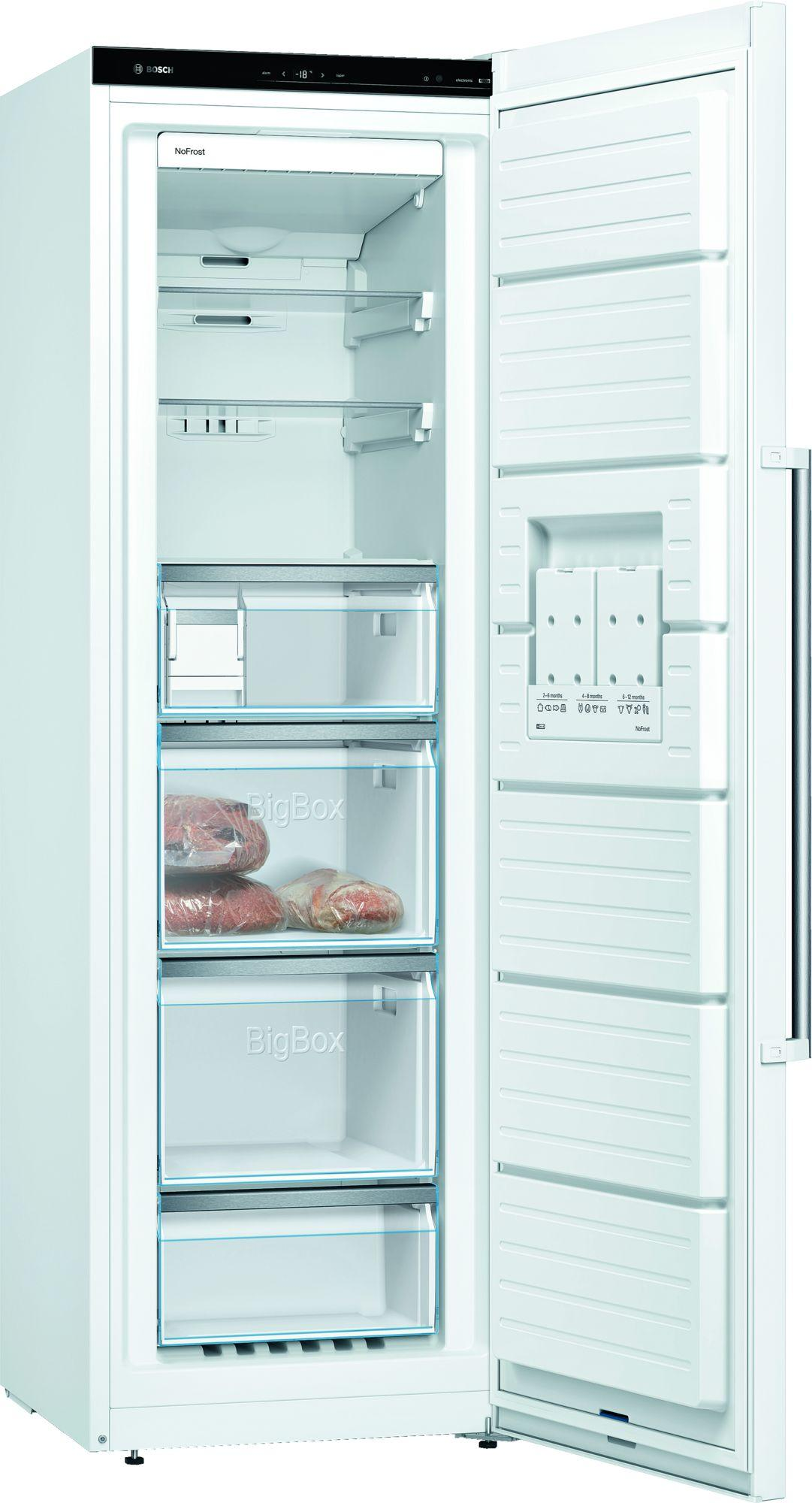 Image of Serie 6 GSN36AWFPG 60cm 242 Litre Frost Free Tall Single Door Freezer | White