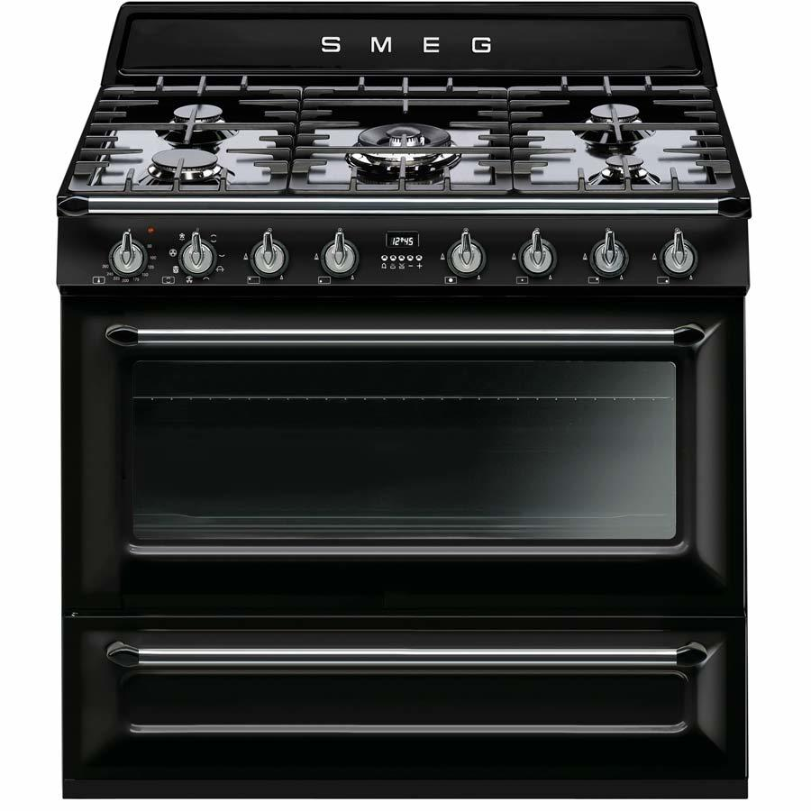 Smeg TR90BL1 90cm Dual Fuel Single Oven Range Cooker​