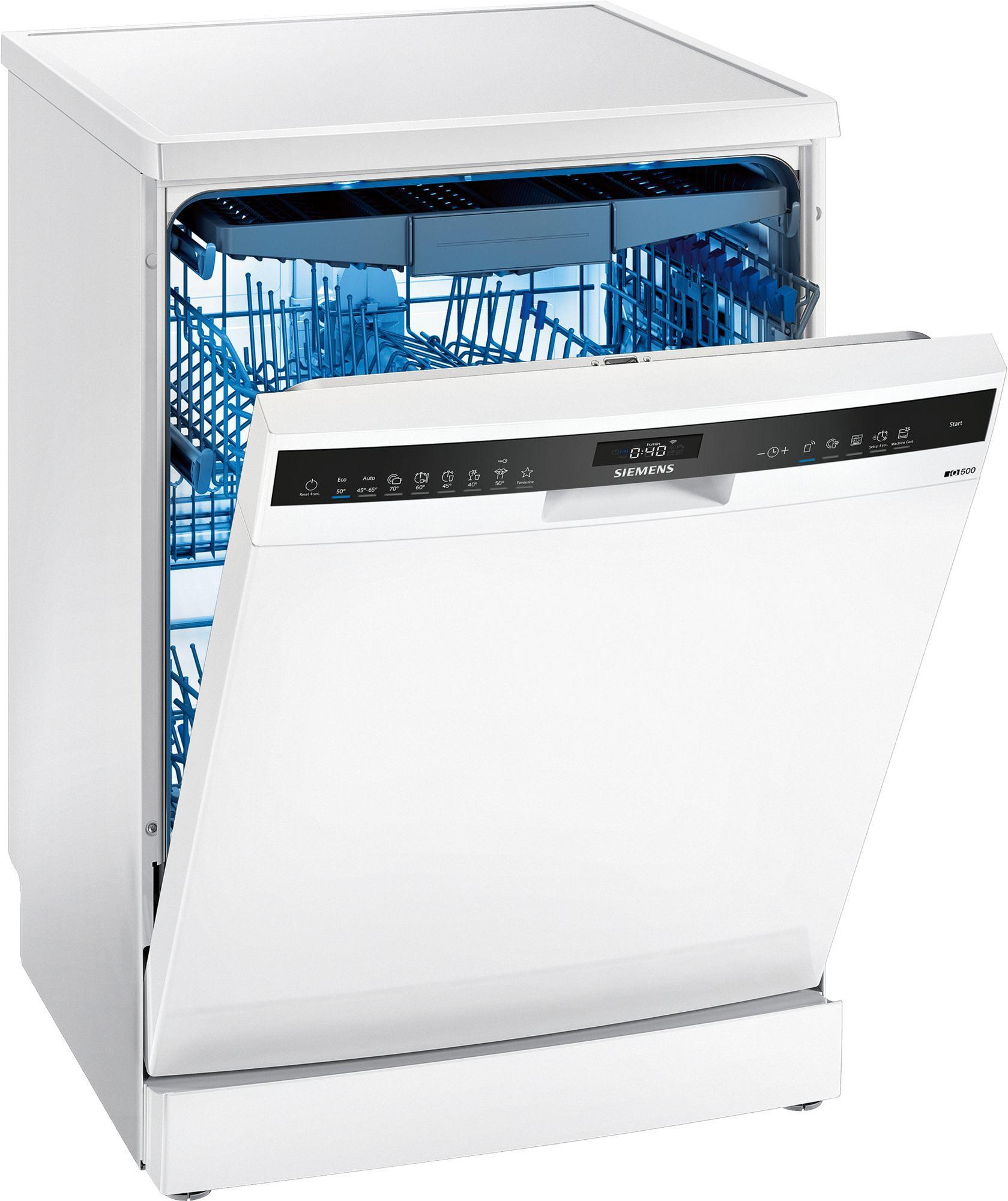 Image of iQ500 SN25ZW49CE 60cm Standard Dishwasher | White