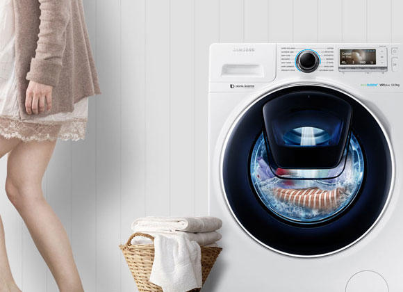 Samsung WW12K8412OX 12Kg 1400 Spin AddWash Washing Machine