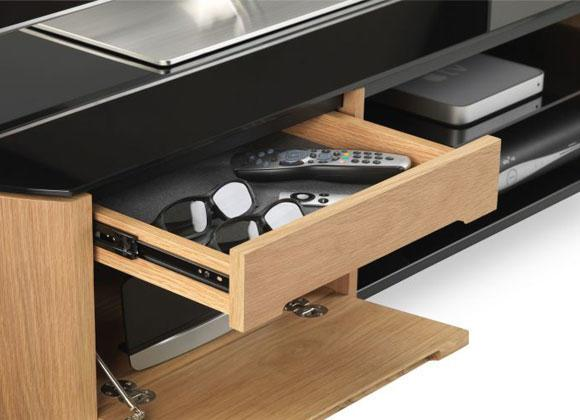 Alphason FW1100CB-LO Finewoods Cabinet TV Stand in Light Oak
