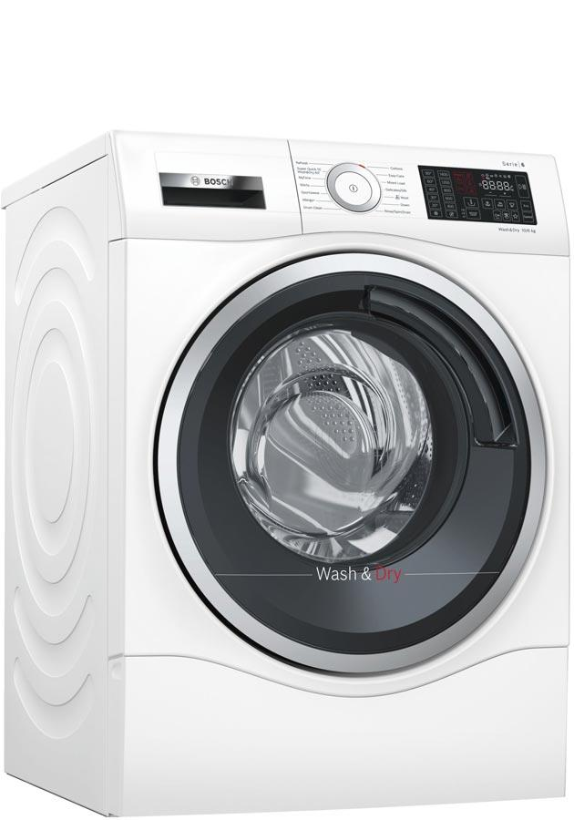 Bosch Serie 6 WDU28560GB 10Kg / 6Kg 1400 Spin Washer Dryer - White