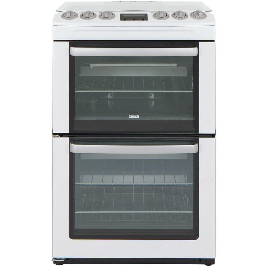 Zanussi ZCG552GWC 55cm Gas Double Oven Cooker