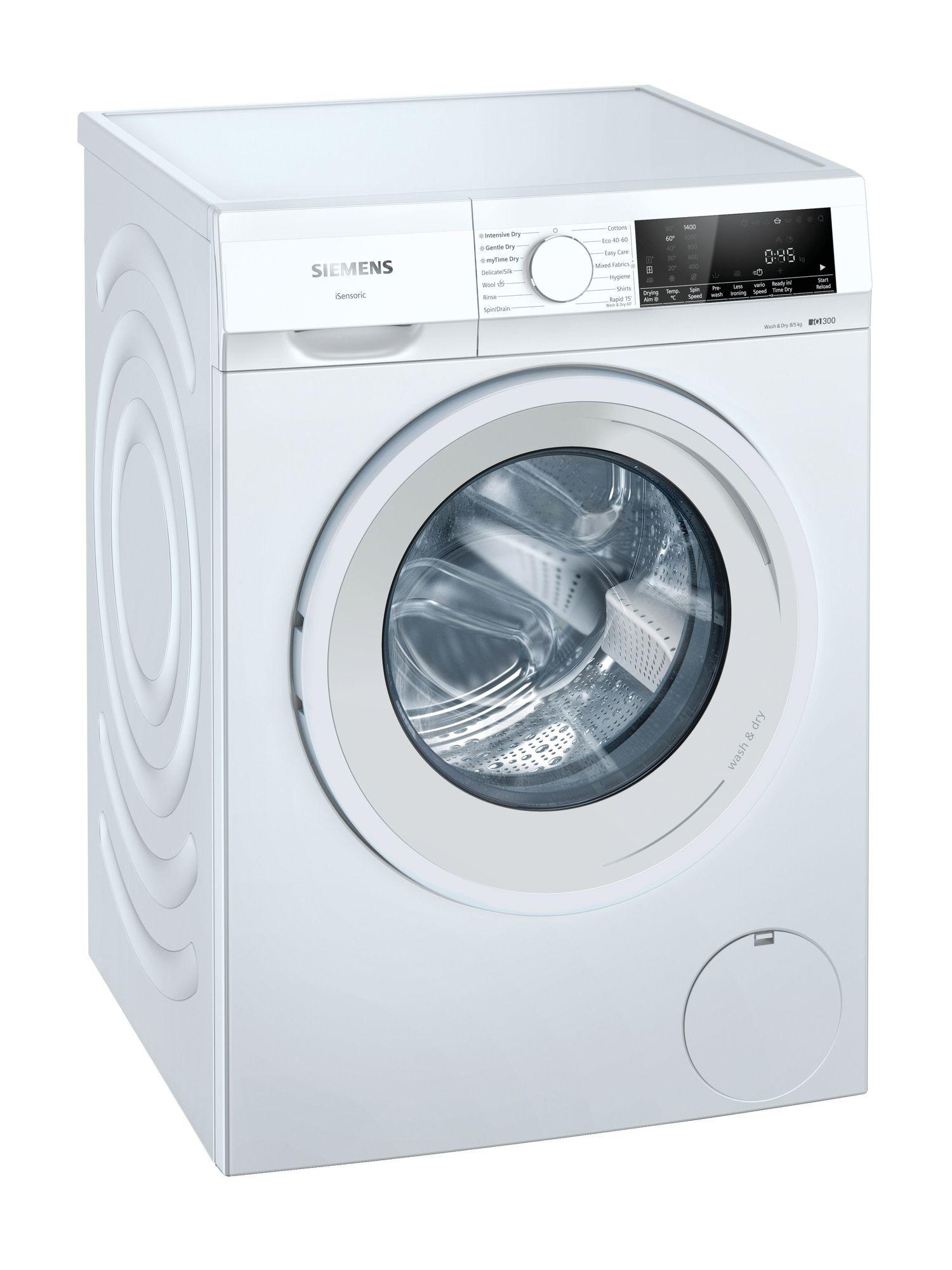 Image of iQ300 WN34A1U8GB 8Kg Wash 5Kg Dry 1400 Spin Washer Dryer   White