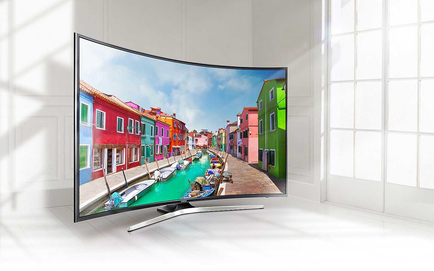 "Samsung UE49MU6220 49"" 4K HDR Curved Smart LED TV"