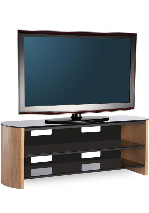 Alphason FW1350-LO/B Finewoods TV Stand in Light Oak