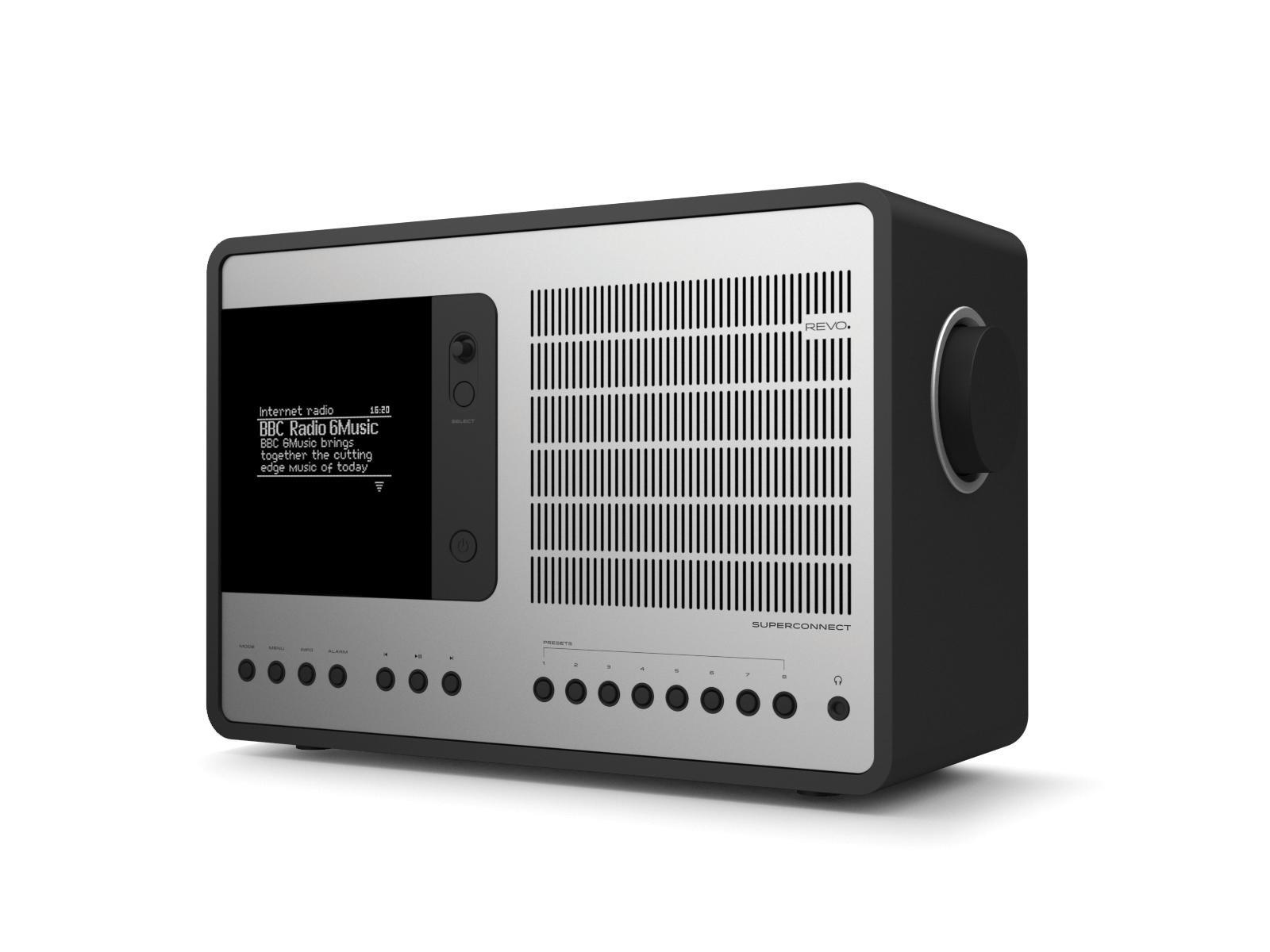 Revo SuperConnect DAB Internet Radio With Spotify - Matt Black / Silver