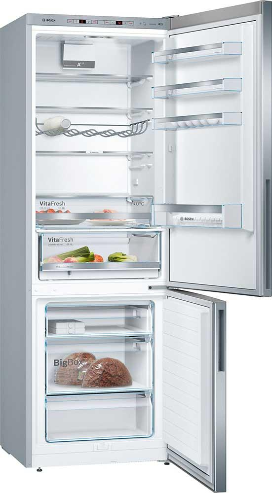 Bosch Serie 6 KGE49VI4AG 412L 60/40 A+++ Fridge Freezer - Stainless Steel