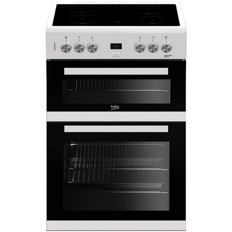 Beko EDC633W 60cm Double Oven Electric Cooker with Ceramic Hob