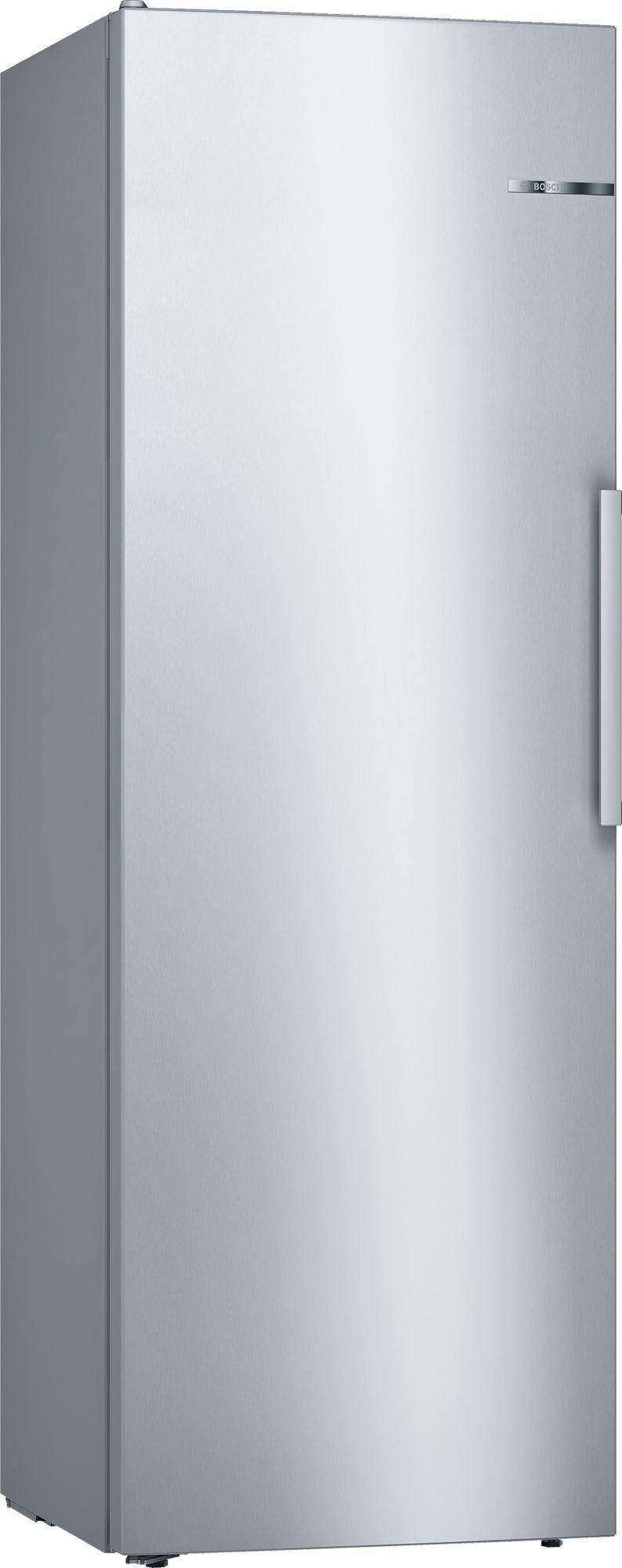 Image of Serie 4 KSV33VLEP 60cm 324 Litre Single Door Larder Fridge | Silver Innox