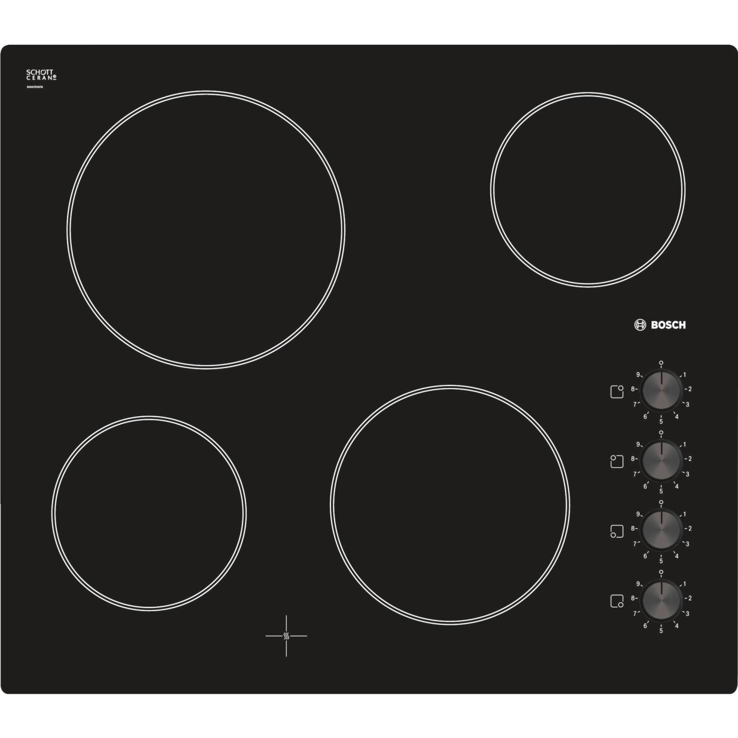 Bosch ​PKE611C17E 4 Zone Electric Ceramic Hob