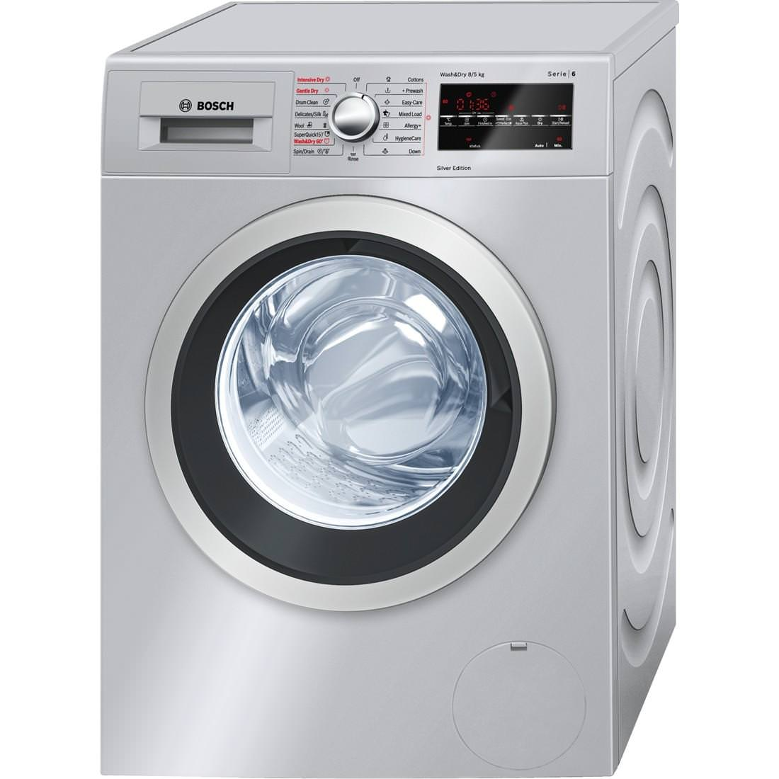 WVG3046SGB 8Kg 1500 Spin Washer Dryer