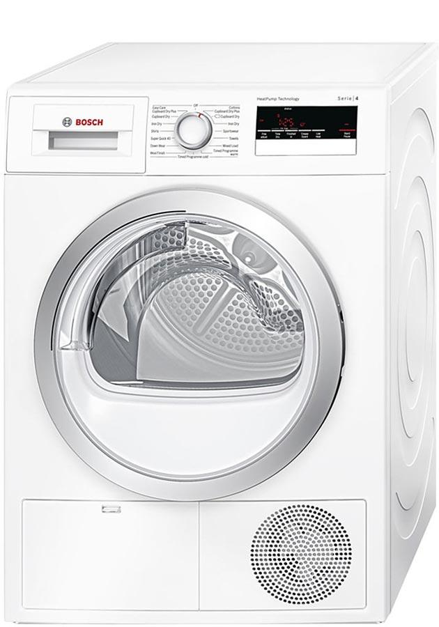 bosch serie 4 wth85200gb wth85200 8kg heat pump condenser dryer. Black Bedroom Furniture Sets. Home Design Ideas