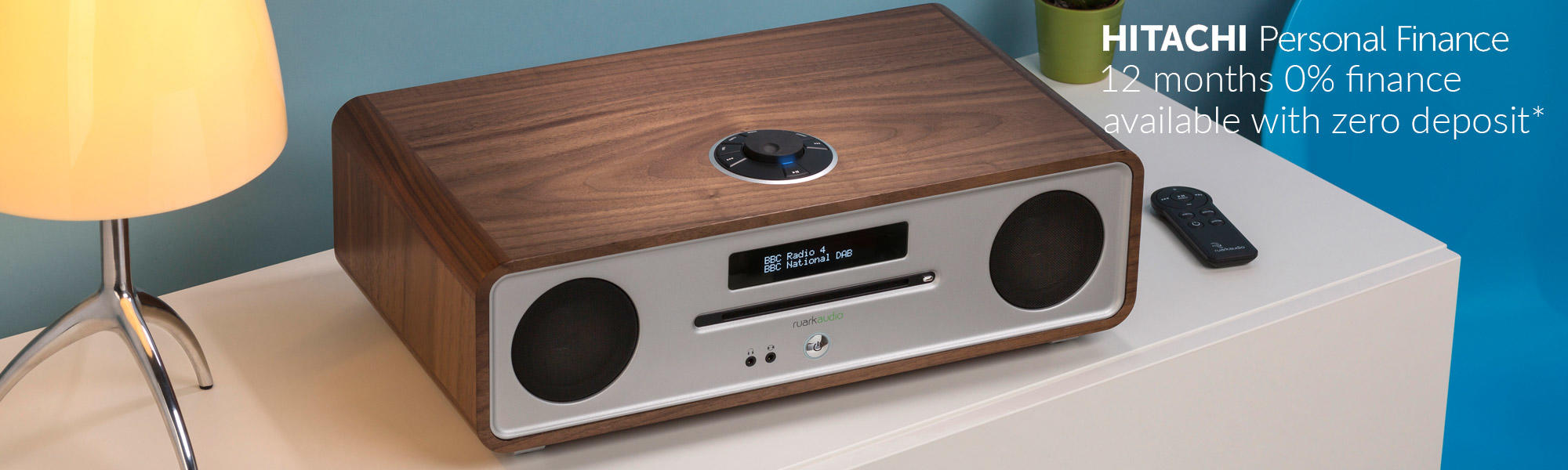 Ruark Audio R4 MK3 CD, DAB, Bluetooth Music System - Rich Walnut
