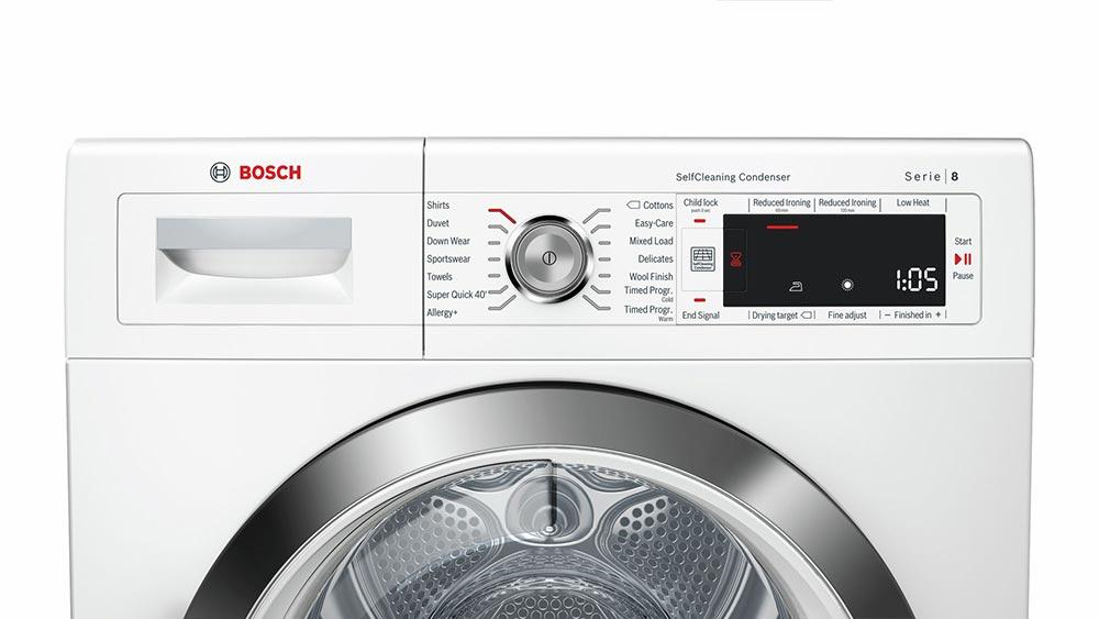 Bosch Serie 8 WTW87561GB 9Kg Heat Pump Condenser Tumble Dryer