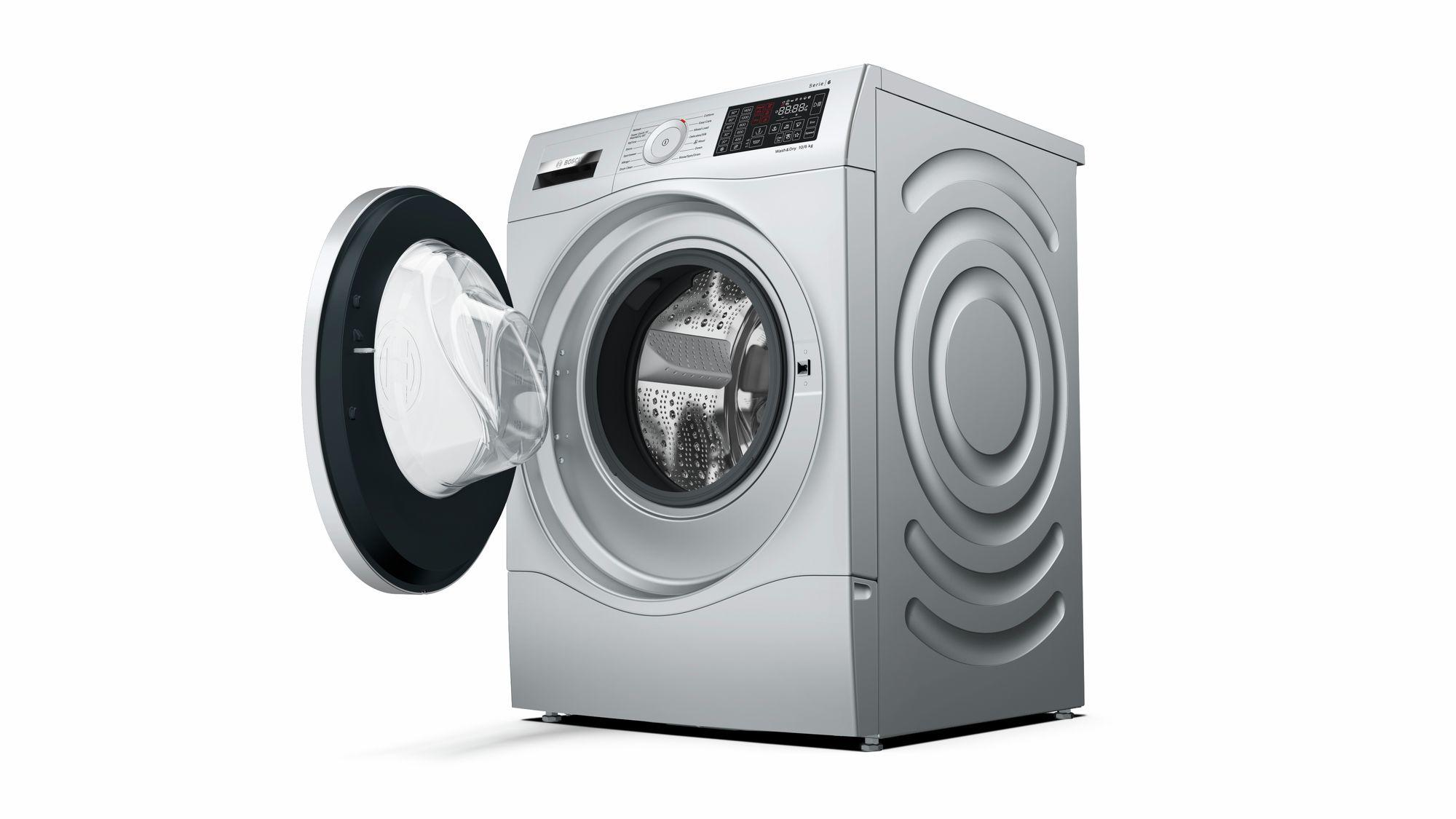 Bosch Serie 6 WDU28568GB 10Kg Wash 6Kg Dry 1400 Spin A Rated Washer Dryer | Silver