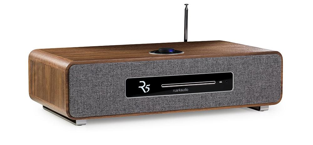 Ruark Audio R5 High Fidelity Music System CD, DAB, Bluetooth | Rich Walnut Veneer
