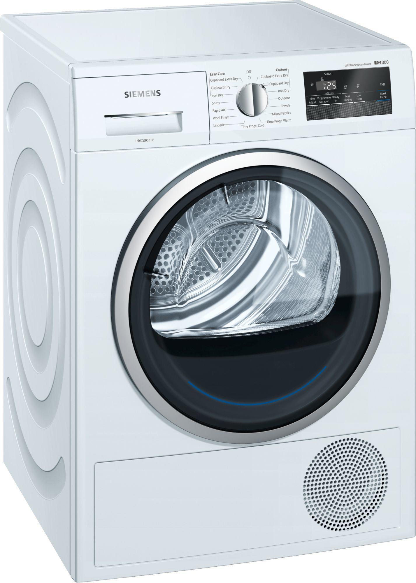 Image of iQ300 WT45M232GB 8Kg A++ Condenser Tumble Dryer   White