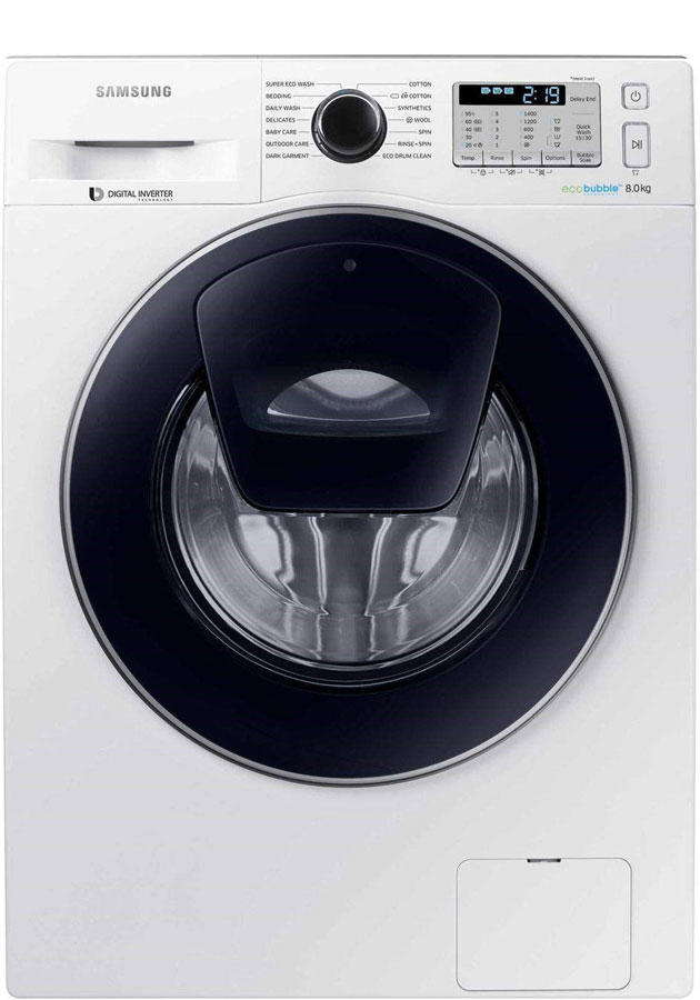 Samsung WW80K5413UW 8Kg 1400 Spin AddWash Washing Machine