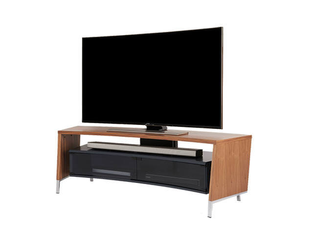 Off The Wall CRV1500 Curved TV Cabinet Stand Walnut