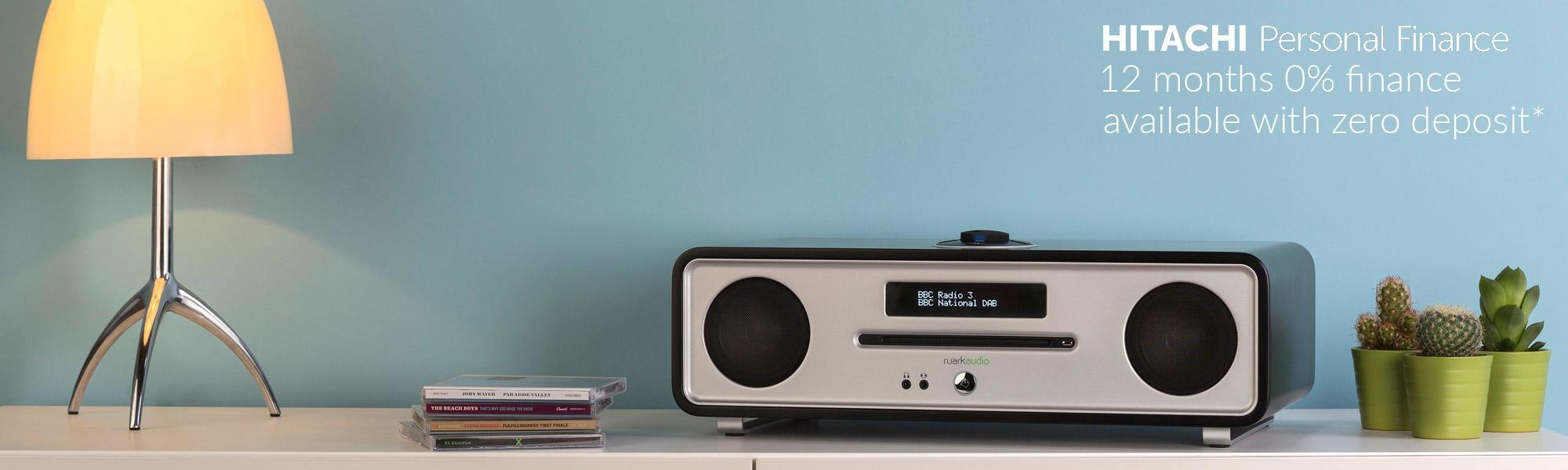 Ruark Audio R4 Mk3 Integrated Music System CD, DAB, Bluetooth in Soft Black Lacquer