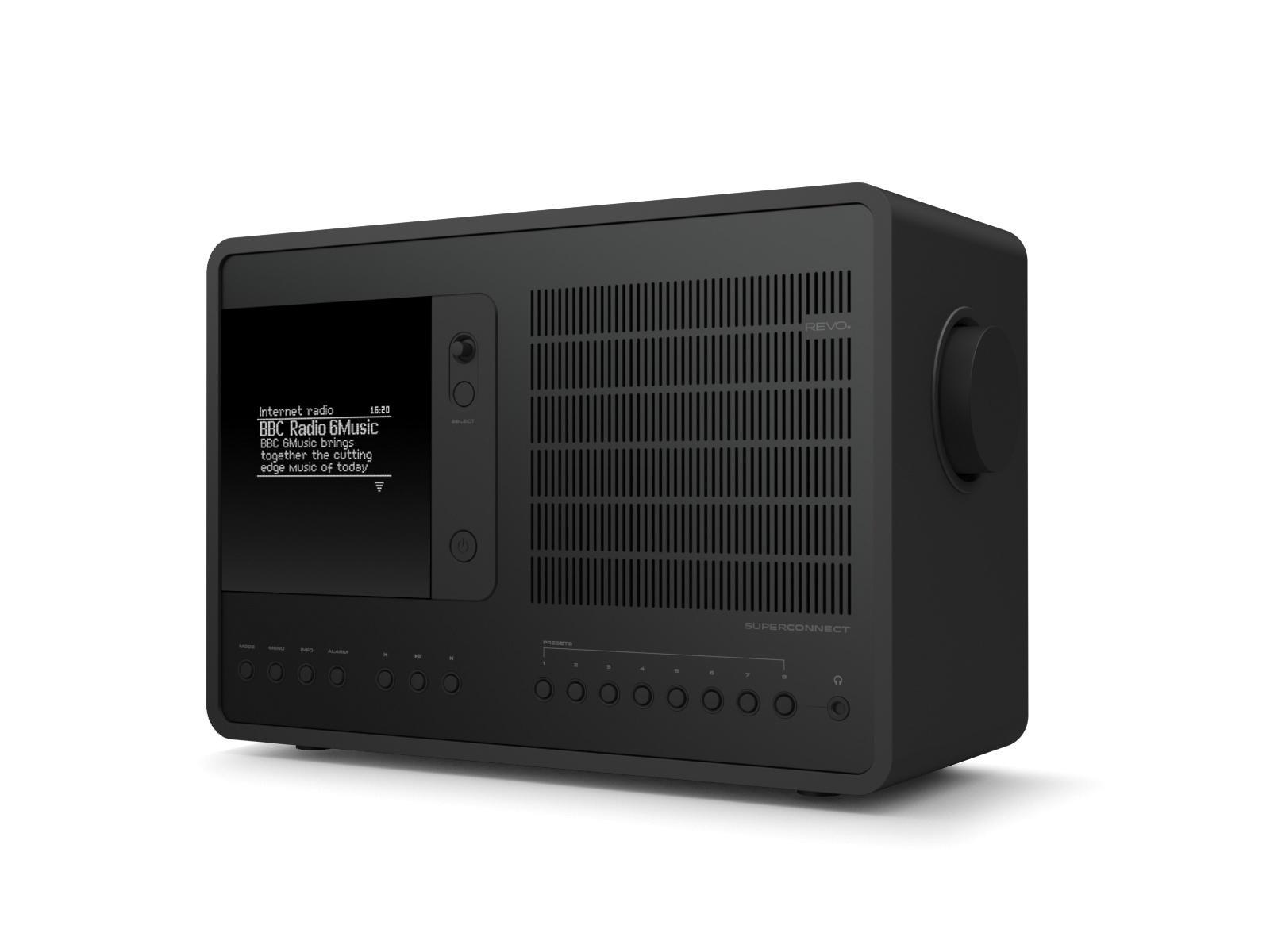 Revo SuperConnect DAB Internet Radio With Spotify - Shadow Edition