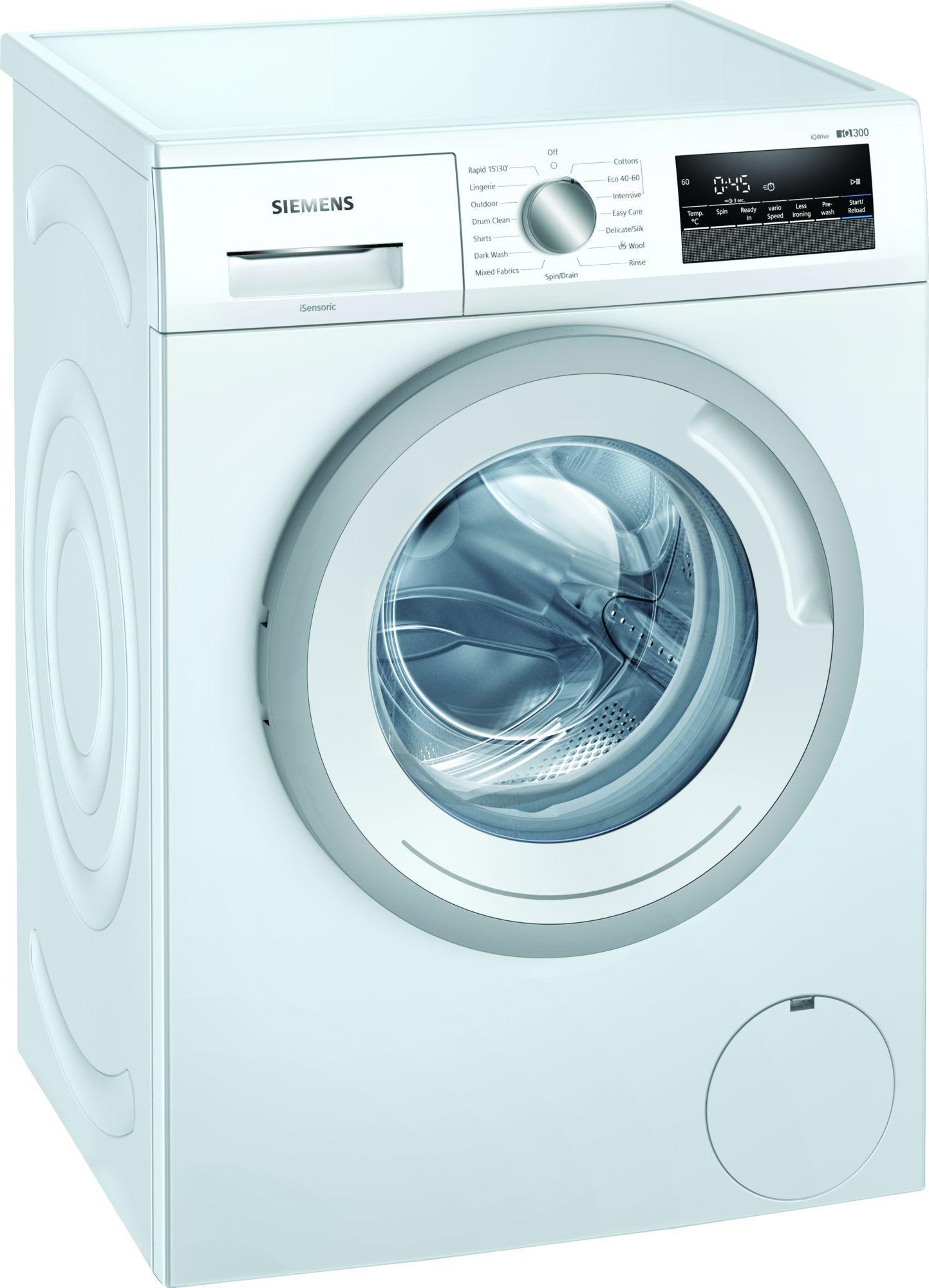 Image of iQ300 WM12N202GB 8Kg 1200 Spin Washing Machine   White