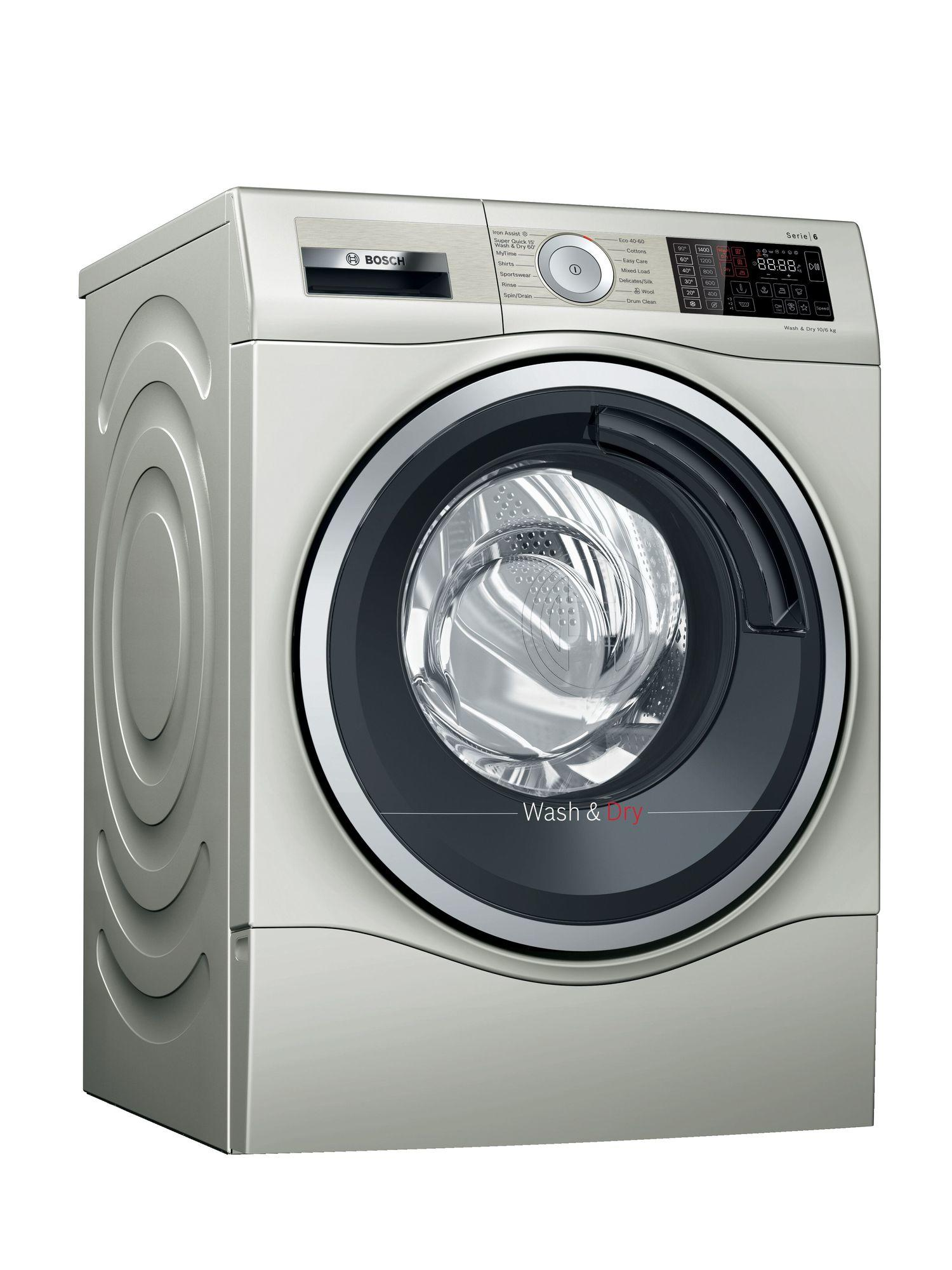 Image of Serie 6 WDU28569GB 10Kg Wash 6Kg Dry 1400 Spin Washer Dryer | Silver