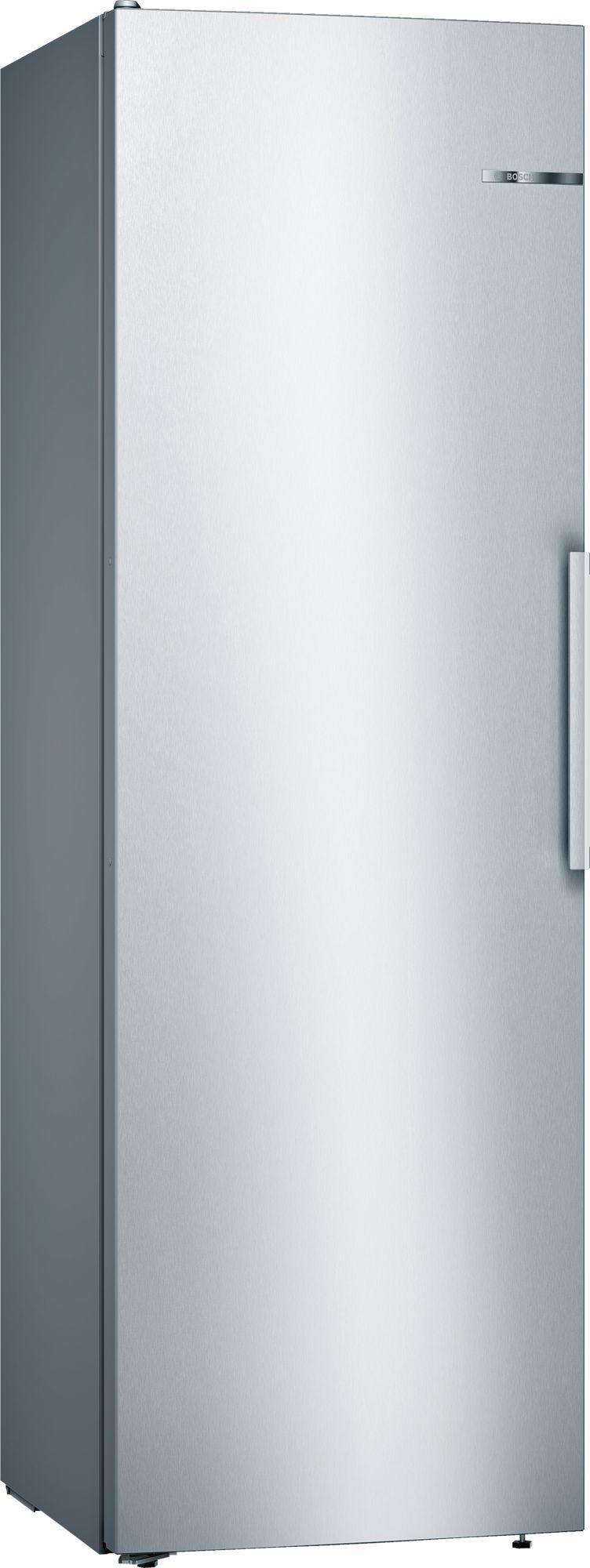 Image of Serie 4 KSV36VLEP 60cm 346 Litre Tall Single Door Larder Fridge | Silver Innox