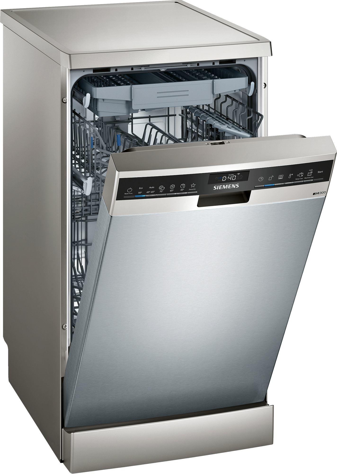Image of iQ500 SR23EI28ME 45cm Freestanding Dishwasher   Stainless Steel