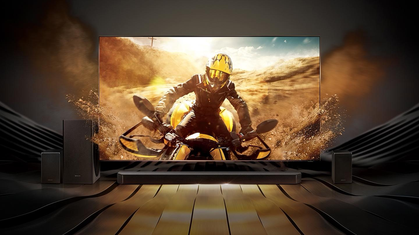Picture of a Samsung QLED TV