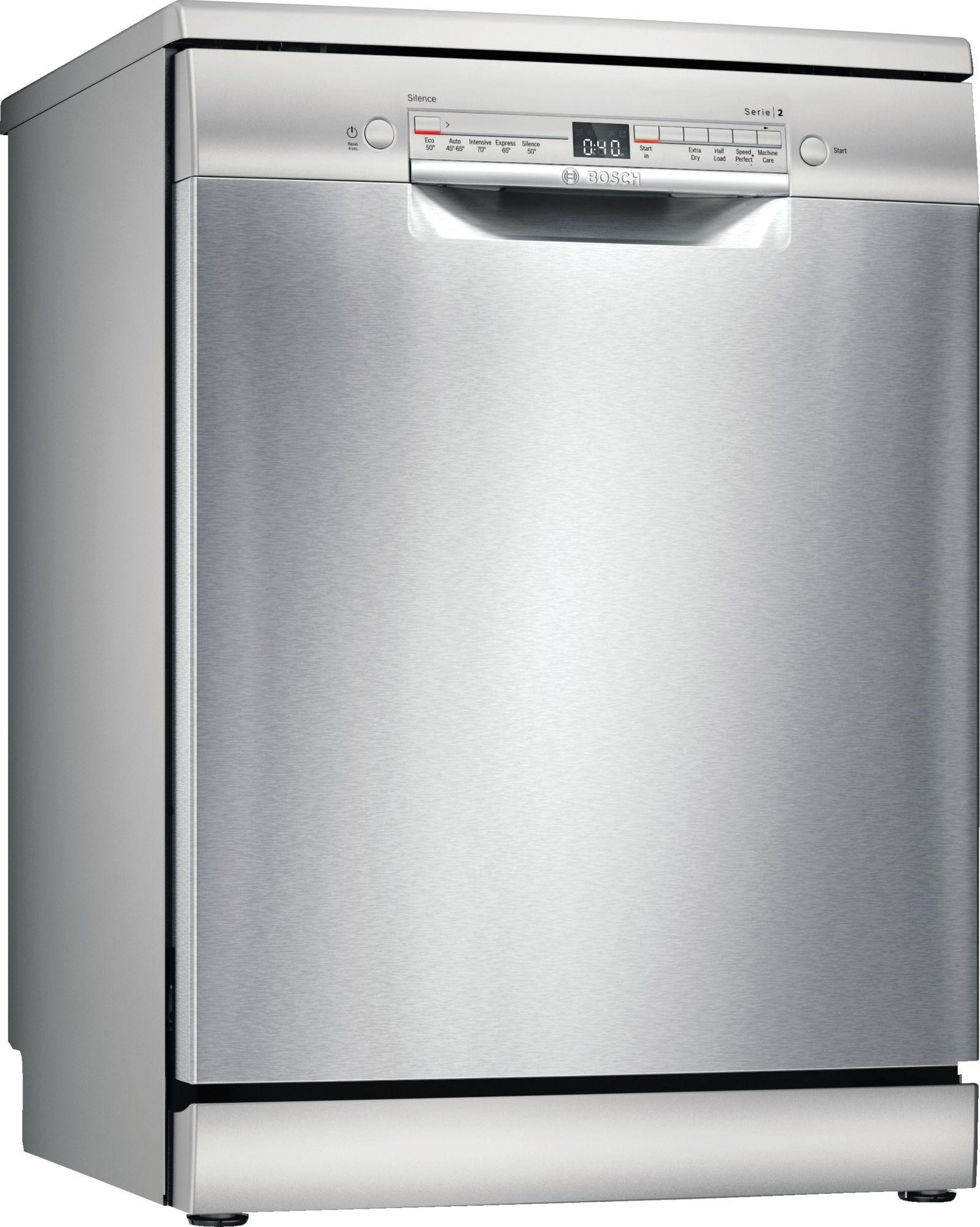 Image of Serie 2 SGS2HVI66G 60cm Standard Dishwasher | Silver Innox
