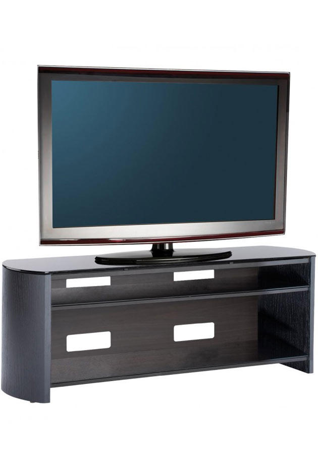 Alphason FW1350-BV Finewoods TV Stand in Black Oak