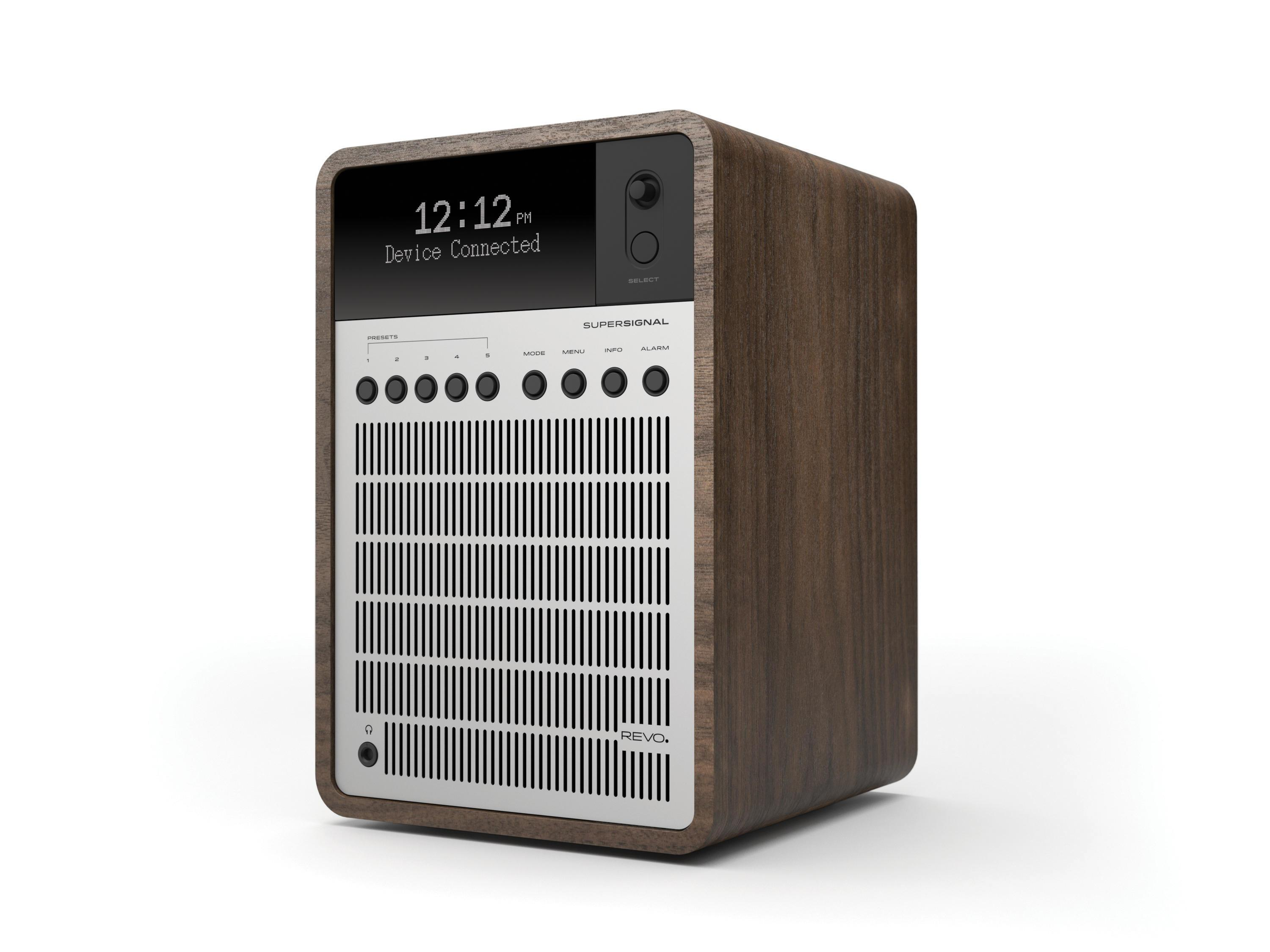 Revo SuperSignal DAB Radio with Bluetooth - Walnut / Silver