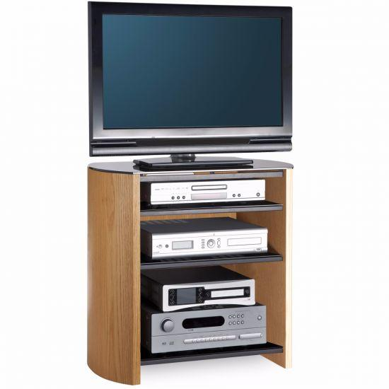 Alphason FW750/4-LO/B Finewoods HiFi TV Stand in Light Oak