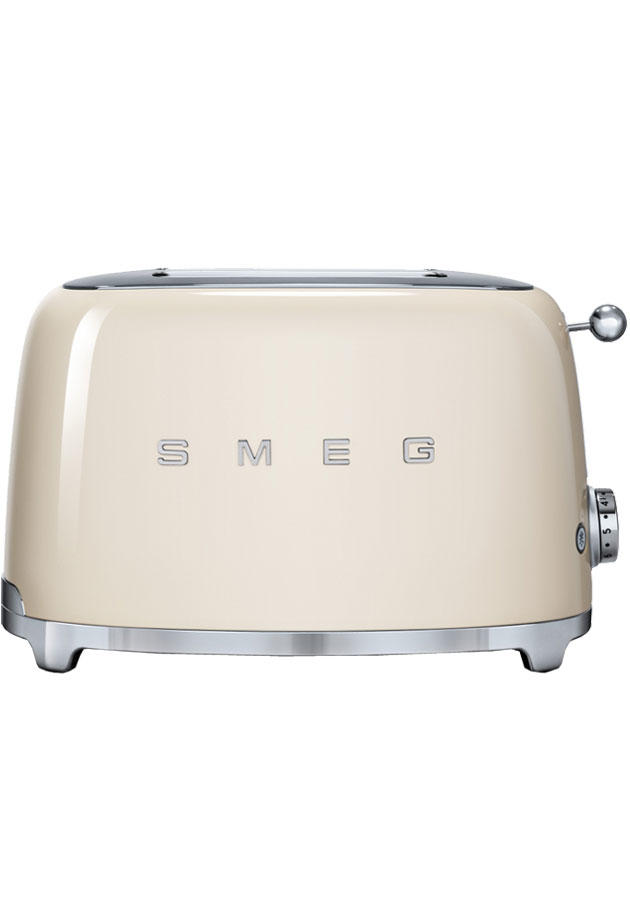 Smeg TSF01CRUK Retro 2 Slice Toaster - Cream​