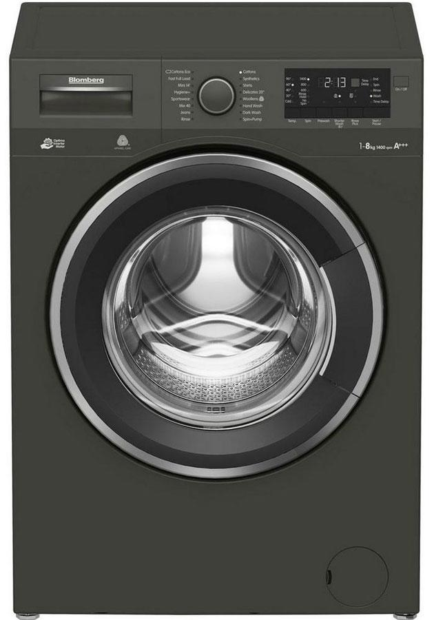 Blomberg LWF284421G 8kg 1400 Spin A+++ Washing Machine - Graphite