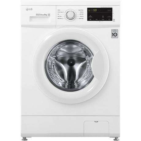 LG F4MT08WE 8Kg 1400 Spin Inverter Direct Drive Washing Machine | White