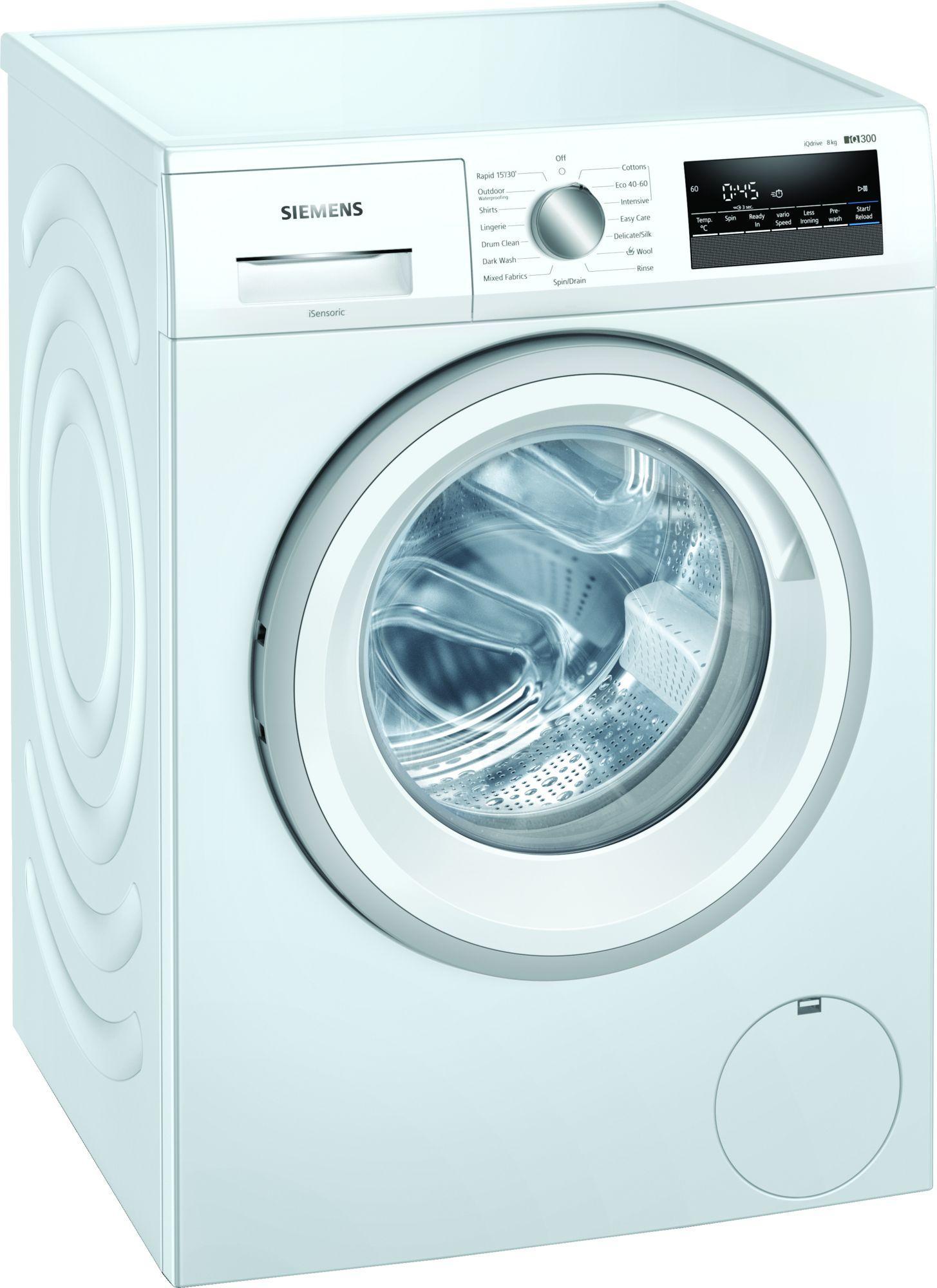 Image of iQ300 WM14N202GB 8Kg 1400 Spin Washing Machine   White