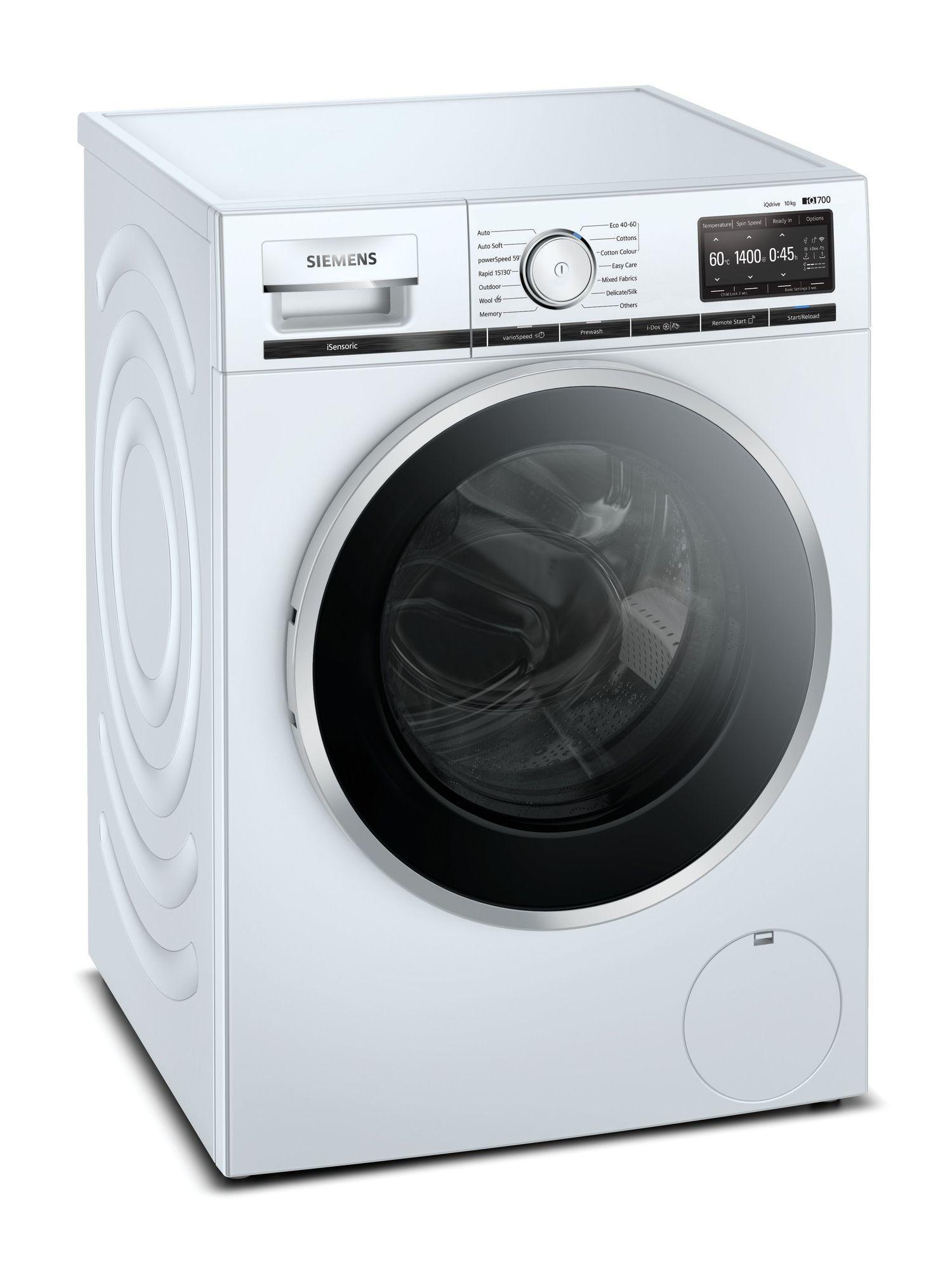 Image of iQ700 WM14XEH4GB 10Kg 1400 Spin Washing Machine | White