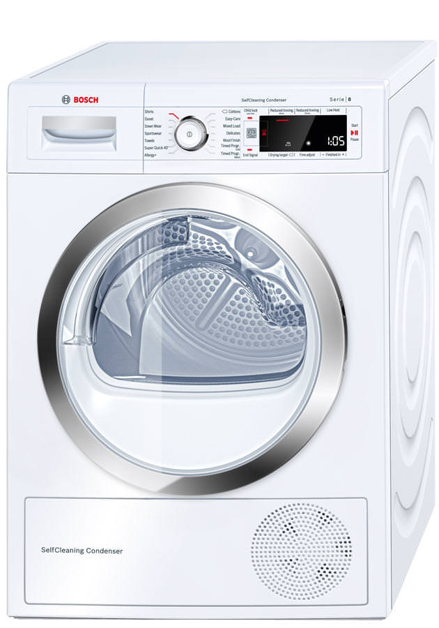 Bosch WTW87560GB 9Kg Heat Pump Condenser Tumble Dryer