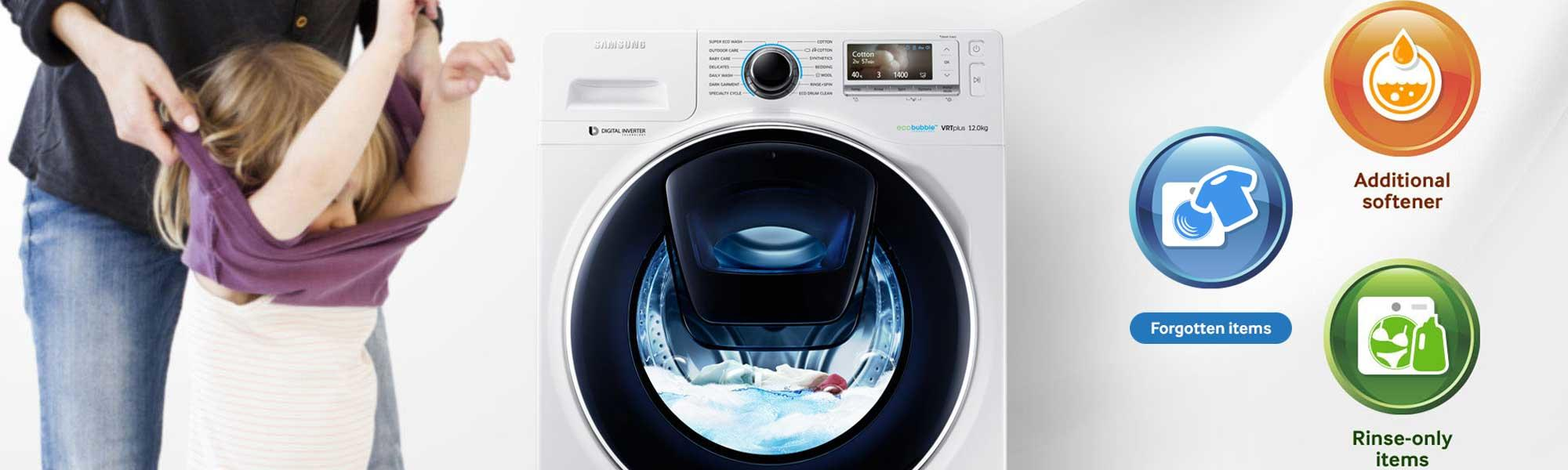 Samsung WW90K7615OX 9Kg 1600 Spin AddWash Washing Machine